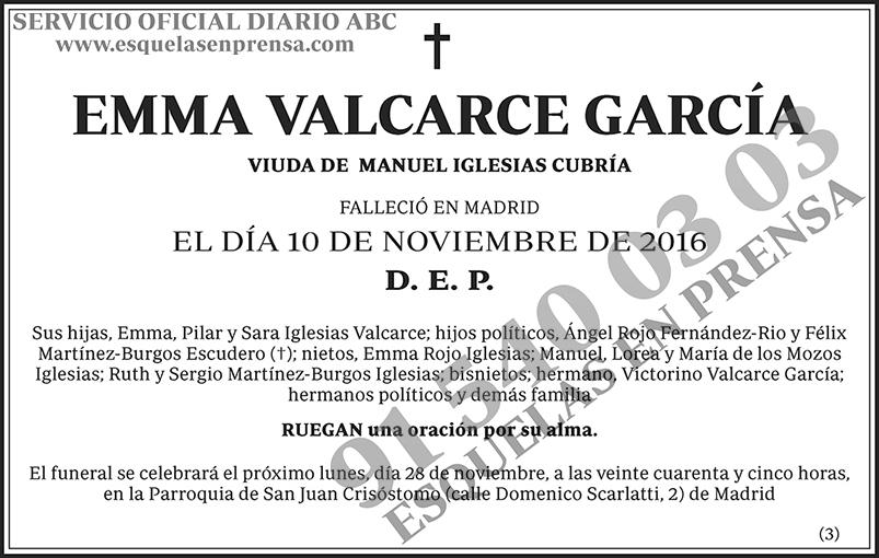 Emma Valcarce García